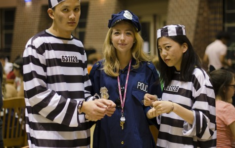 Students and faculty alike enjoyed dressing up for the annual Halloween dinner