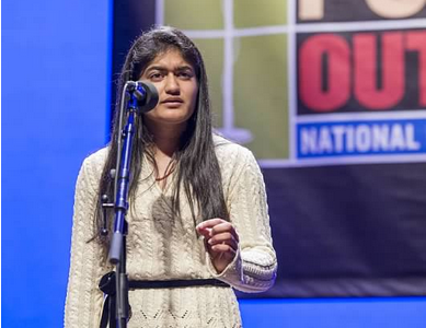 Oza reaches National Finals of poetry competition