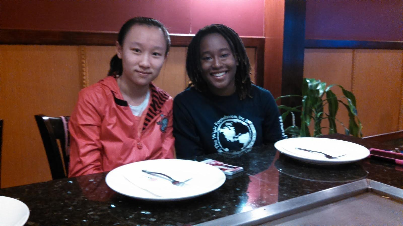 Amina Bright '15 with her EFZ partner Shen Yifan. Photographer: Yuan Gao