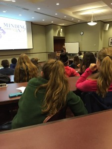 Jackie Ricciardi from Minding Your Mind presented to Peddie students about mental health problems. Photographer: Amanda Bullock '16