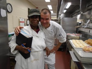 Oleg Babich is shot in the kitchen of Peddie Food Services Photographer: Rajae McClinek '16