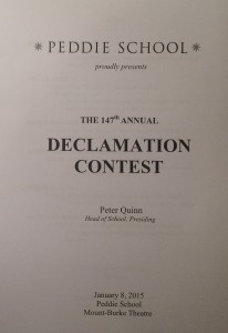 The 147th annual Declamation Contest was held in the Mount-Burke Theatre. Photographer: Caroline Casey '15