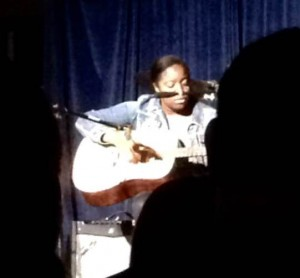 Uzo Achebe '16 played the guitar at the annually held Coffeehouse sponsored by the GSA. Photographer: Rajae McClinek '16