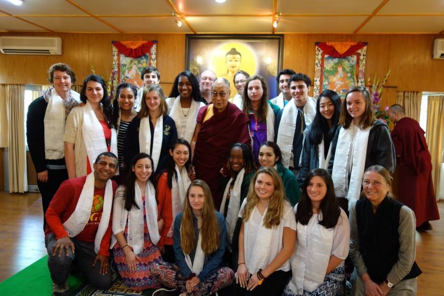 Peddie+students+met+the+Dalai+Lama+on+their+spring+break+trip+to+India.