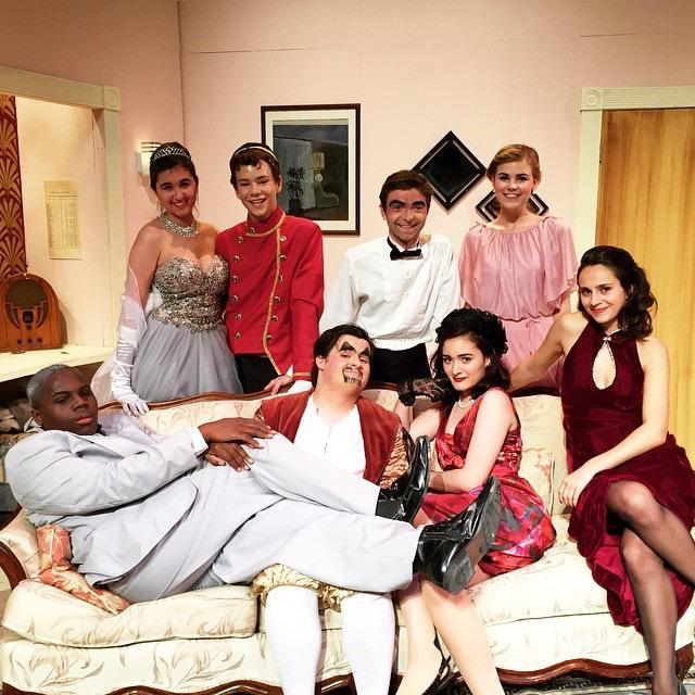 The+cast+of+Lend+Me+a+Tenor+sits+together+after+the+show.