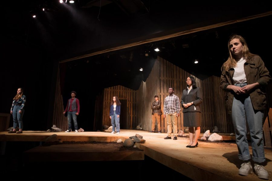 Peddie Theatre in Bold Lights: The Laramie Project