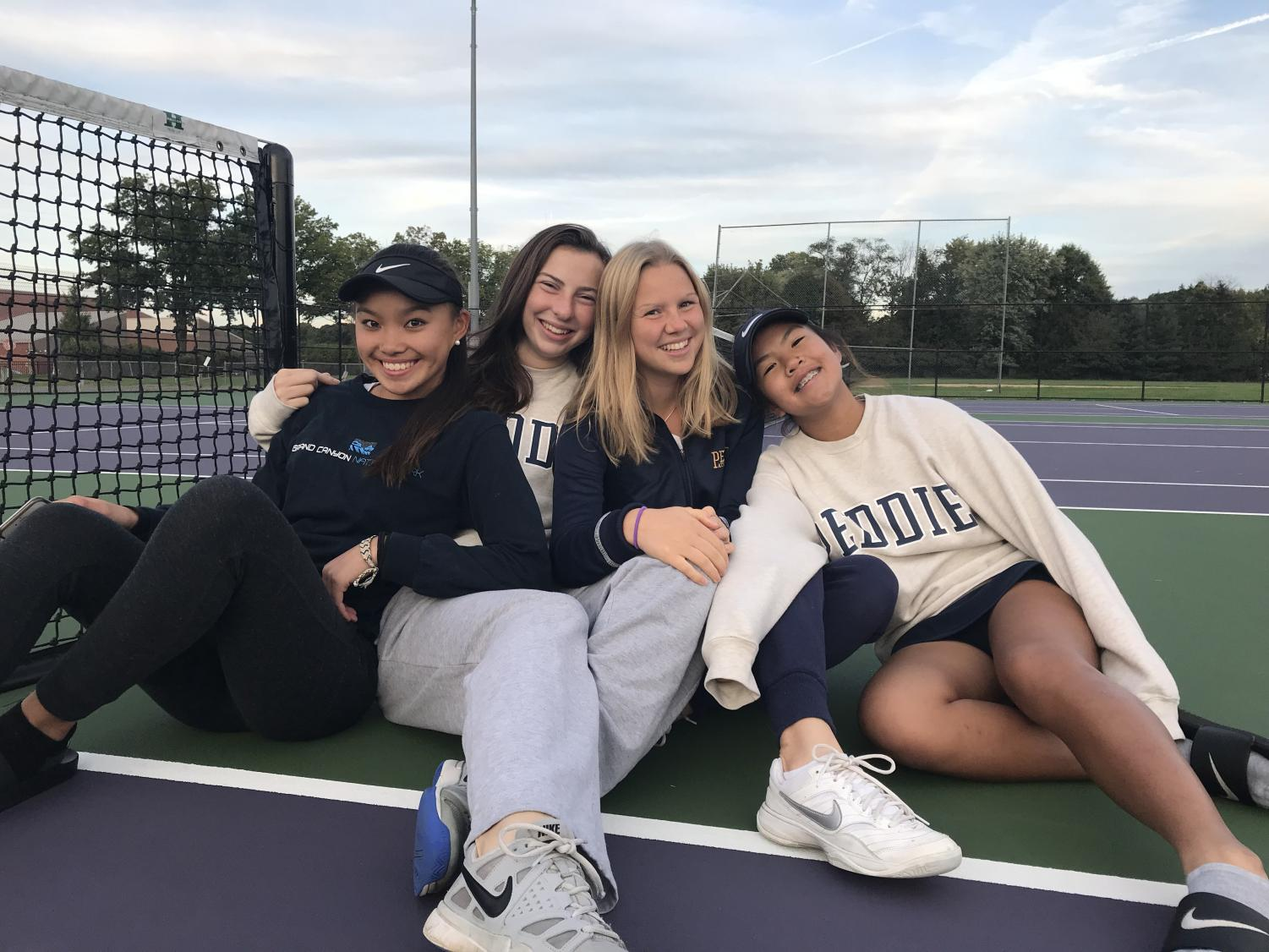 From left to right: Kathryn Fang '22, Bateman Solms '20, Anna Möller '20, Emme Pham '22.