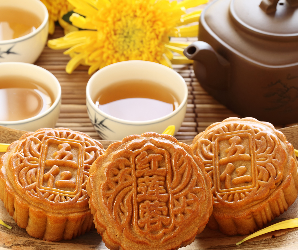 Moon-cakes of the Mid-Autumn Festival.