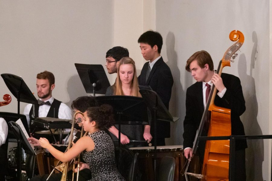 Members+of+the+Peddie+orchestra+preforming+at+the+Vespers+celebration.+